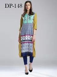 Best 3/4th Sleeve Crepe Kurti