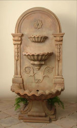 Beige Stone Wall Fountain, Dimension 2.5 feet high x 1.75 feet