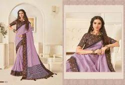 Designer Printed Bhagalpuri Look Saree, 6 M (With Blouse Piece)