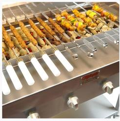 Silver Seekh Kebab Grill Maker