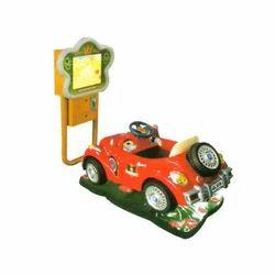 Red Simulation Car Racing Game Machine