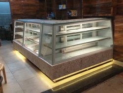 L Shape Cake Display Counter