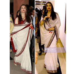 Georgette White Bollywood Saree
