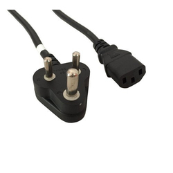 Vision Black Computer Power Cord