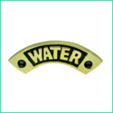 Nameplate water Curved (brass)