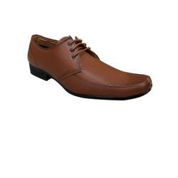 PU Low ankle Semi Pointed Brown Shoe