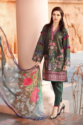 bef98f1b50 Unstitched Ladies Embroidered Suits - Awwal Boutique Pakistani Suits ...