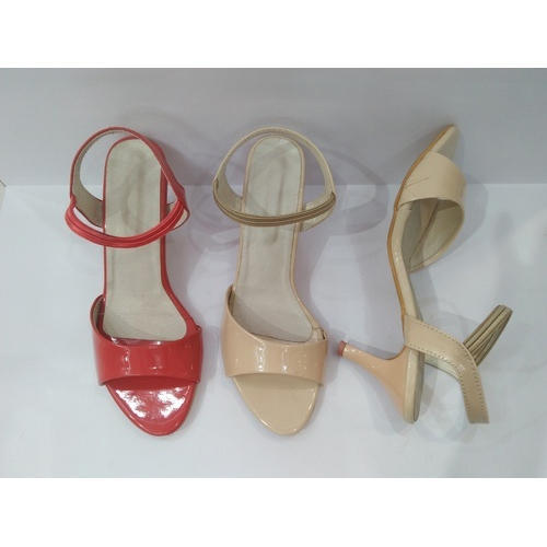 Ladies Kitten Heel Office Sandal Size 5 6 7 8 And