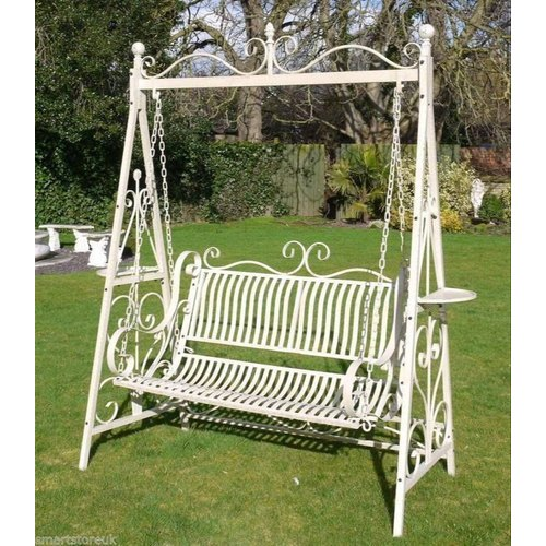 Not Available White Wrought Iron Garden Swing Rs 14000 Piece Id