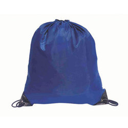 Blue Drawstring Backpack
