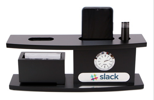 Black Wooden Desk Organizer For Office