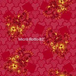 GOLD Roto ''80' Printed Cotton Fabric