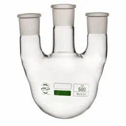 Rajas Flask Round Bottom, 3 Neck Parallel