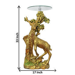 Animal Figured Decorative Corner Tables Pillar Stand