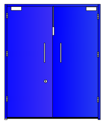 Clean Room Doors ( Double Leaf Without View Panel)