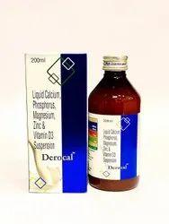 Liquid Calcium Phosphorus Magnesium Zinc and Vitamin D3 Suspension