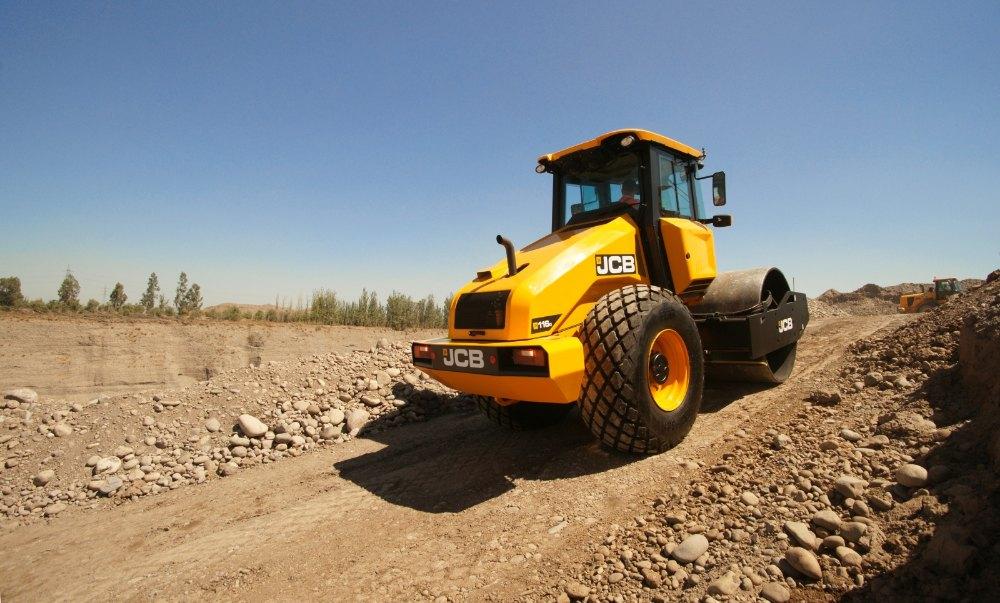JCB 116 Single Drum Soil Compactor, 100 hp