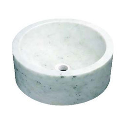 Round Countertop Marble Washbasin