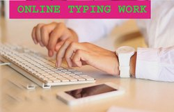 ONLINE TYPING WORK