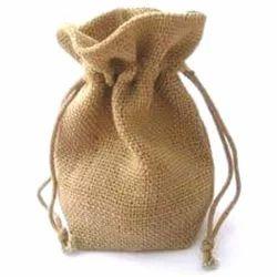 Jute Light Brown  Potli Bags