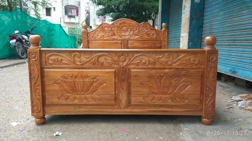 Teak Furniture Teak Wood Cot King Size Wholesale Trader