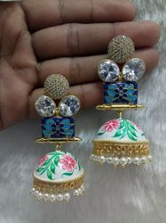 Jhumka Painting Earring
