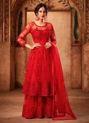 Net Anarkali Sharara Suits For Ramzan Eid