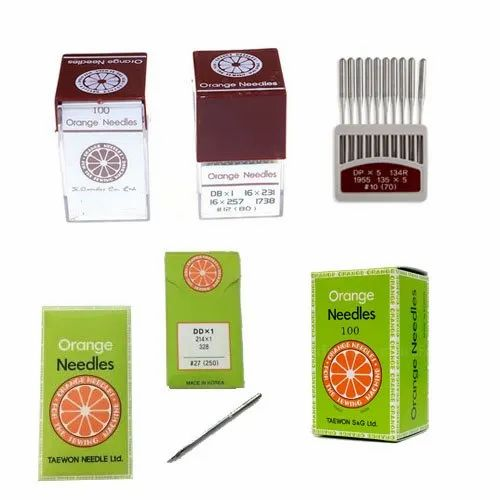Stainless Steal Silver Orange Industrial Sewing Machine Needles