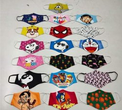 Multicolored Design Multicolor Face Mask Printing on fabric, in Ludhiana, Number of Layers: 2 Layers