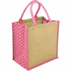 Jute Bag with Twisted Rope Handle