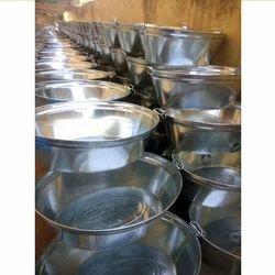 Silver Galvanized Oval Wash Tub