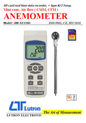 Anemometer AM4233SD Lutron Mini Vane, Air Flow ( CMM, CFM )
