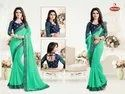 Georgette Saree & Heavy Embroidery Blouse Work - First Step 07