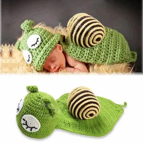 Bembika Newborn Lovely Knitted Chunky Crochet Hat Snail Photography