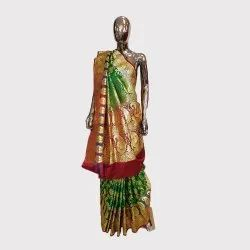Bottle Green Bridal Banarasi Saree