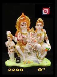 Artificial Gold Polyresin Shiv Parivar Set