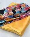 Printed Silk Georgette Sarees With Blouse Piece