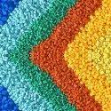 Colored Plastic Granules, Packaging Type: Packet