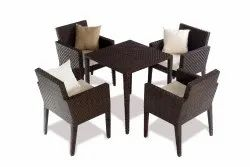 Cane Lines Wicker CL-031 Black Restaurant Chair & Table