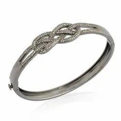 Pave Diamond Infinity Bangle