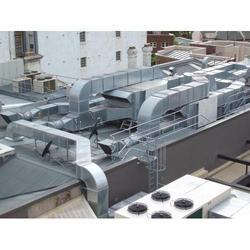 Silver Aluminium Air Conditioning Duct, for Industrial Use, Mounting: 70