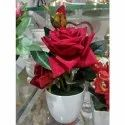 Ceramic Rose Vase, Shape: Round, Size: Small