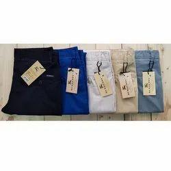 Cotton Plain Formal Men Trouser