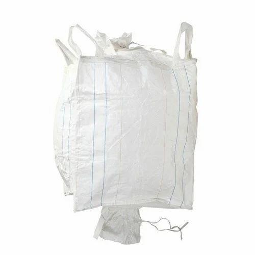 Century White Fibc Bulk Jumbo Bag With Top Filling Spout Bottom
