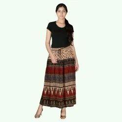 Rayon Crep Bagru Skirt