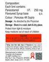Paracetamol 250mg Suspension