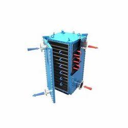 Galvanized Mild Steel Plate Heat Exchanger, Air-Cooled, 0-10 m3/hr