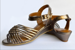 Leather And Synthetic Naughty Sandal Bronze, Size: 36 And 40
