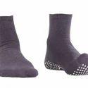 Gents Ankle Length Dark Gray Nofall Socks