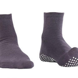 Gents Ankle Length Dark Gray Nofall Socks
